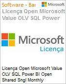 Licença mensal Microsoft Value OLV SQL Power BI Open Shared Sngl Monthly Subscriptions-Volume License 1 License No Level Additional Product Promo 1 Month (Figura somente ilustrativa, não representa o produto real)
