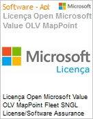 Licença Open Microsoft Value OLV MapPoint Fleet SNGL License/Software Assurance Pack [LicSAPk] No Level Additional Product 1 Year Acquired year 1 (Figura somente ilustrativa, não representa o produto real)