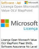 Licença Open Microsoft Value OLV MapPoint Fleet SNGL Software Assurance No Level Additional Product 1 Year Acquired year 2  (Figura somente ilustrativa, não representa o produto real)