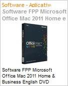 Software FPP Microsoft Office Mac 2011 Home & Business English DVD  (Figura somente ilustrativa, n�o representa o produto real)