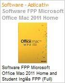 Software FPP Microsoft Office Mac 2011 Home and Student Ingl�s FPP (Full) (Figura somente ilustrativa, n�o representa o produto real)