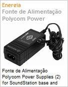 Fonte de Alimenta��o Polycom Power Supplies (2) for SoundStation base and console, 100-240V  (Figura somente ilustrativa, n�o representa o produto real)