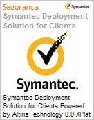 Symantec Deployment Solution for Clients Powered by Altiris Technology 8.0 XPlat per Device Bndl Standard License Express Band E [250-499] Essential 12 Meses (Figura somente ilustrativa, não representa o produto real)