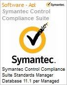 Symantec Control Compliance Suite Standards Manager Database 11.1 per Managed Db Instance Bndl Standard License Express Band S [001+] Essential 12 Meses (Figura somente ilustrativa, não representa o produto real)