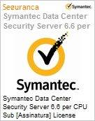 Symantec Data Center Security Server 6.6 per CPU Sub [Assinatura] License Express Band A [001-024] Essential 12 Meses  (Figura somente ilustrativa, não representa o produto real)
