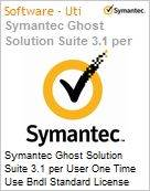 Symantec Ghost Solution Suite 3.1 per User One Time Use Bndl Standard License Express Band E [250-499] Essential 12 Meses  (Figura somente ilustrativa, não representa o produto real)