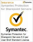 Symantec Protection for Sharepoint Servers 6.0 per User Bndl Standard License Express Band E [250-499] Essential 12 Meses  (Figura somente ilustrativa, não representa o produto real)
