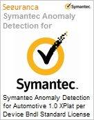Symantec Anomaly Detection for Automotive 1.0 XPlat per Device Bndl Standard License Express Band E [250-499] Essential 12 Meses  (Figura somente ilustrativa, não representa o produto real)