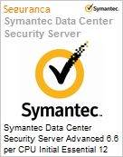 Symantec Data Center Security Server Advanced 6.6 per CPU Initial Essential 12 Meses Express Band A [001-024]  (Figura somente ilustrativa, não representa o produto real)