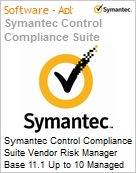 Symantec Control Compliance Suite Vendor Risk Manager Base 11.1 Up to 10 Managed Vendors Sub [Assinatura] License Express Band S [001+] Essential 12 Meses (Figura somente ilustrativa, não representa o produto real)