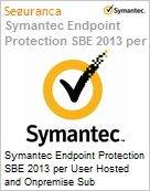 Symantec Endpoint Protection SBE 2013 per User Hosted and Onpremise Sub [Assinatura] Upfront Bill Express Band F [500+] Sb Support 12 Meses  (Figura somente ilustrativa, não representa o produto real)