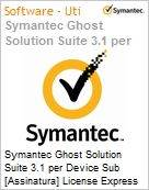 Symantec Ghost Solution Suite 3.1 per Device Sub [Assinatura] License Express Band E [250-499] Essential 12 Meses  (Figura somente ilustrativa, n�o representa o produto real)