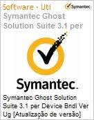 Symantec Ghost Solution Suite 3.1 per Device Bndl Ver Ug [Atualiza��o de vers�o] License Express Band A [001-024] Essential 12 Meses  (Figura somente ilustrativa, n�o representa o produto real)