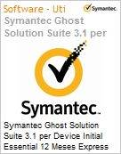 Symantec Ghost Solution Suite 3.1 per Device Initial Essential 12 Meses Express Band E [250-499]  (Figura somente ilustrativa, n�o representa o produto real)