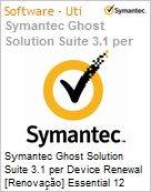 Symantec Ghost Solution Suite 3.1 per Device Renewal [Renova��o] Essential 12 Meses Express Band A [001-024]  (Figura somente ilustrativa, n�o representa o produto real)