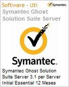Symantec Ghost Solution Suite Server 3.1 per Server Initial Essential 12 Meses Express Band D [100-249]  (Figura somente ilustrativa, n�o representa o produto real)