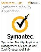 Symantec Mobility Application Management 5.0 per Device Xgrd [Crossgrade] Sub [Assinatura] License from Mobility Workforce Apps Express Band S [001+] Essential 12 Meses (Figura somente ilustrativa, não representa o produto real)