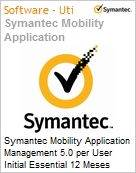 Symantec Mobility Application Management 5.0 per User Initial Essential 12 Meses Express Band S [001+]  (Figura somente ilustrativa, n�o representa o produto real)