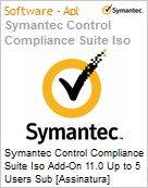 Symantec Control Compliance Suite Iso Add-On 11.0 Up to 5 Users Sub [Assinatura] License Express Band S [001+] Essential 12 Meses  (Figura somente ilustrativa, não representa o produto real)