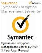 Symantec Encryption Management Server by PGP 3.4 per User Renewal [Renova��o] Essential 12 Meses Express Band E [250-499]  (Figura somente ilustrativa, n�o representa o produto real)