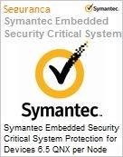 Symantec Embedded Security Critical System Protection for Devices 6.5 QNX per Node Initial Essential 12 Meses Express Band D [100-249]  (Figura somente ilustrativa, não representa o produto real)