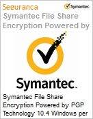 Symantec File Share Encryption Powered by PGP Technology 10.4 Windows per User Initial Essential 12 Meses Express Band F [500+]  (Figura somente ilustrativa, não representa o produto real)