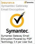 Symantec Gateway Email Encryption Powered by PGP Technology 3.4 per User Sub [Assinatura] License Express Band D [100-249] Essential 12 Meses  (Figura somente ilustrativa, não representa o produto real)