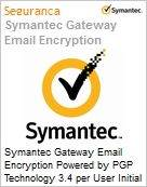 Symantec Gateway Email Encryption Powered by PGP Technology 3.4 per User Initial Essential 12 Meses Express Band E [250-499]  (Figura somente ilustrativa, não representa o produto real)