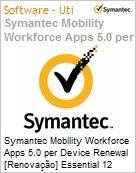 Symantec Mobility Workforce Apps 5.0 per Device Renewal [Renova��o] Essential 12 Meses Express Band S [001+]  (Figura somente ilustrativa, n�o representa o produto real)