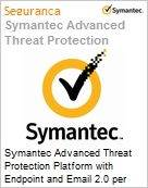 Symantec Advanced Threat Protection Platform with Endpoint and Email 2.0 per User Sub [Assinatura] License Express Band E [250-499] Essential 12 Meses (Figura somente ilustrativa, não representa o produto real)