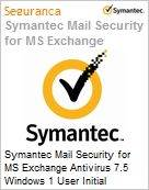 Symantec Mail Security for MS Exchange Antivirus 7.5 Windows 1 User Initial Essential 12 Meses Express Band E [250-499]  (Figura somente ilustrativa, não representa o produto real)