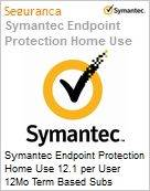 Symantec Endpoint Protection Home Use 12.1 per User 12Mo Term Based Subs License Express Band E [250-499]  (Figura somente ilustrativa, não representa o produto real)
