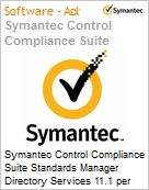 Symantec Control Compliance Suite Standards Manager Directory Services 11.1 per Managed User Bndl Standard License Express Band S [001+] Essential 12 Meses (Figura somente ilustrativa, não representa o produto real)