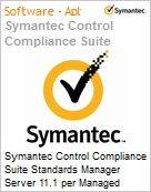 Symantec Control Compliance Suite Standards Manager Server 11.1 per Managed Server Bndl Standard License Express Band S [001+] Essential 12 Meses (Figura somente ilustrativa, não representa o produto real)