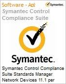 Symantec Control Compliance Suite Standards Manager Network Devices 11.1 per Managed Device Initial Essential 12 Meses Express Band S [001+]  (Figura somente ilustrativa, não representa o produto real)