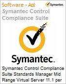 Symantec Control Compliance Suite Standards Manager Mid Range Virtual Server 11.1 per Managed Server Sub [Assinatura] License Express Band S [001+] Essential 12 Meses (Figura somente ilustrativa, não representa o produto real)