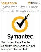 Symantec Data Center Security Monitoring 6.6 per Managed Server Sub [Assinatura] License Express Band C [050-099] Essential 12 Meses  (Figura somente ilustrativa, não representa o produto real)