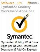 Symantec Mobility Workforce Apps per Device Hosted Sub [Assinatura] Add-On Express Band S [001+] Essential 12 Meses  (Figura somente ilustrativa, não representa o produto real)