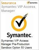 Symantec VIP Access Manager Pre-Production Sandbox Option 50 Users Hosted Sub [Assinatura] Express Band S [001+] Essential 12 Meses  (Figura somente ilustrativa, não representa o produto real)