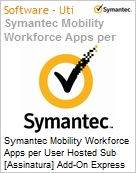 Symantec Mobility Workforce Apps per User Hosted Sub [Assinatura] Add-On Express Band S [001+] Essential 12 Meses  (Figura somente ilustrativa, não representa o produto real)