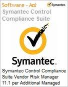 Symantec Control Compliance Suite Vendor Risk Manager 11.1 per Additional Managed Vendor Initial Essential 12 Meses Express Band S [001+]  (Figura somente ilustrativa, não representa o produto real)