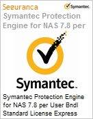 Symantec Protection Engine for NAS 7.8 per User Bndl Standard License Express Band D [100-249] Essential 12 Meses  (Figura somente ilustrativa, não representa o produto real)