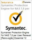 Symantec Protection Engine for NAS 7.8 per User Renewal [Renova��o] Essential 12 Meses Express Band F [500+]  (Figura somente ilustrativa, n�o representa o produto real)