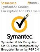 Symantec Mobile Encryption for IOS Email Management by Encryption Server by PGP 2.0 per User Renewal [Renova��o] Essential 12 Meses Express Band D [100-249] (Figura somente ilustrativa, n�o representa o produto real)