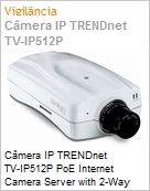 C�mera IP TRENDnet TV-IP512P PoE Internet Camera Server with 2-Way Audio  (Figura somente ilustrativa, n�o representa o produto real)