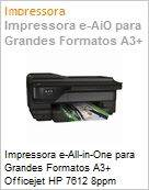 Impressora e-All-in-One para Grandes Formatos A3+ Officejet HP 7612 8ppm 4800x1200dpi 256MB Rede Wi-Fi N ePrint AirPrint at� 12.000 p�g/m�s  (Figura somente ilustrativa, n�o representa o produto real)