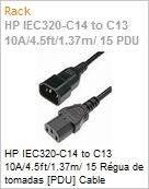HP IEC320-C14 to C13 10A/4.5ft/1.37m/ 15 R�gua de tomadas [PDU] Cable (Figura somente ilustrativa, n�o representa o produto real)