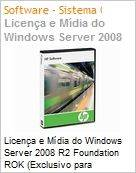 Licen�a Windows Server Foundation 2008 R2 HP Reseller Option Kit (ROK) (Somente com PC Novo)  (Figura somente ilustrativa, n�o representa o produto real)