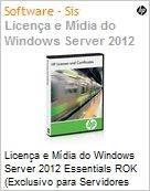 Licen�a e M�dia do Windows Server 2012 Essentials ROK (Exclusivo para Servidores HP)  (Figura somente ilustrativa, n�o representa o produto real)