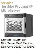 Servidor ProLiant HP MicroServer Gen8 Pentium Dual-Core G2020T (2.50GHz) 2GB Sem Disco RAID B120i/ZM  (Figura somente ilustrativa, n�o representa o produto real)